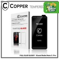Redmi Note 5 / 5 pro - COPPER Tempered Glass Full Glue PREMIUM Glossy