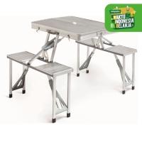 Meja Piknik Lipat Atria Hobbit Portable Picnic Table Silver