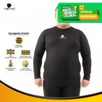 Baselayer Manset Tiento Long Sleeve Black White Big Size