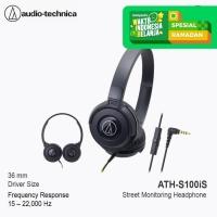 Audio-Technica ATH-S100iS BK ( EX ) BLACK - Hitam