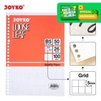 Loose Leaf Isi Kertas File Binder Joyko B5-100GR Grid - 50 Lembar
