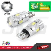 Lampu LED Mobil T10 Canbus 6 Samsung SMD 5630 Cree LED - White