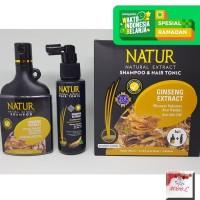 Paket Natur Hair Tonic dan Shampoo ginseng