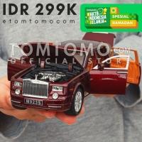 Rolls Royce Phantom Diecast Miniatur Mobil Mobilan Pajangan Dashboard - Maroon Burgundy