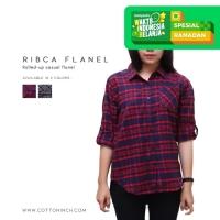 Kemeja Flanel Wanita | RIbca | Cotton Inch