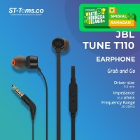 JBL In-Ear Headphone T110 - Hitam