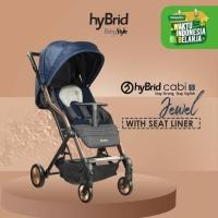 Hybrid Stacy Jewel Navy Rose Gold / Kereta Dorong Bayi / Stroller