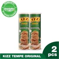 Kizz Tempe Crunchy Keripik Sehat Rasa Original Paket Isi 2