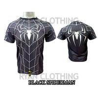 Baju Spiderman Dewasa Kaos Superhero Full Printing 3D #FPS-07