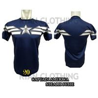 Baju Captain America Dewasa Kaos Superhero Full Printing 3D #FPS-20