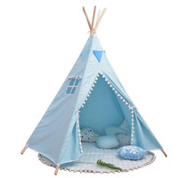 FC Children Portable Folding Tent Baby Game House With Fur