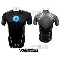 Baju Ironman Tony Stark Dewasa Kaos Superhero Full Printing 3D #FPS-15