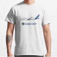 Baju Kaos Illustration of Airbus A320 NEO F-WNEO T-Shirt