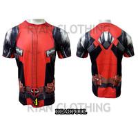 Baju Deadpool Dewasa Kaos Superhero Full Printing 3D #FPS-04