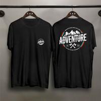 T-shirt Adventure Kapak / Baju Kaos Distro Pria Wanita Cotton 30s