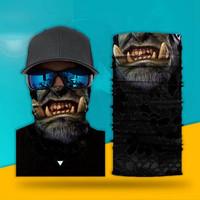 Transquillt Masker Balaclava Seamless Motif Tengkorak Hantu 3d Untuk