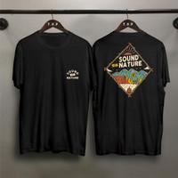 T-shirt Sound Nature / Baju Kaos Distro Pria Wanita Cotton 30s
