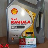 KR Oli Shell Helix Rimula R4 X SAE 15W-40 Galon 5 Liter Ori