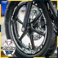 Stiker Velg Sticker Motor Decal Yamaha FreeGo free go Merah Putih