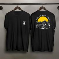 T-shirt Born Adventure / Baju Kaos Distro Pria Wanita Cotton 30s