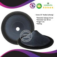 Daun conus kertas speaker full range 12 inch lbg besar Audax