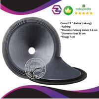 Daun conus kertas speaker full range 12 inch lbg besar Audax coating