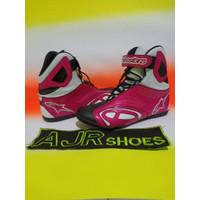 Sepatu drag-touring Alpinestar k-pro new hitam pink