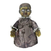 34cm Halloween Ghost Doll Props Electric Horror Ghost Party AU Baby