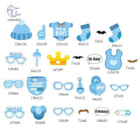 25pcs/27pcs Boy/Girl Baby Shower Birthday Party Photo Booth Props