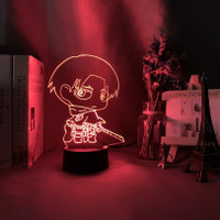 Lampu Malam Bentuk Figur Attack On Titan Levi Ackerman ibi 3d Untuk