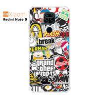 Casing Custom Case Xiaomi Redmi Note 9 Softcase Anticrack Sticker 2