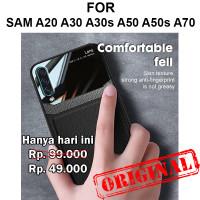 Mirror leather case Samsung A20 A30 A30s A50 A50s A70 casing cover tpu