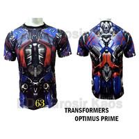 Baju Optimus Prime Transformer ANAK Baju Movie 3D Katun Premium FPS-63