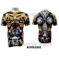 Baju Bumblebee DEWASA Baju Superhero 3D Katun Premium FPS-40