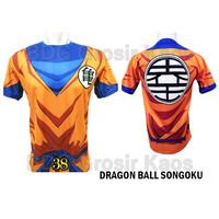 Baju Dragon Ball GOKU ANAK Baju Anime 3D Katun Premium #FPS-38
