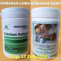 Calcium Softgel Green World Original obat kalsium