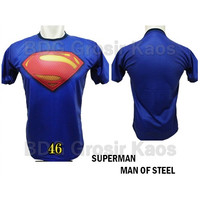 Baju Superman Man of Steel DEWASA Baju Superhero 3D Katun Premium