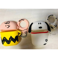 Cute White Snoopy Yellow Charlie Brown Dog House Apple Airpods Gen 1&2