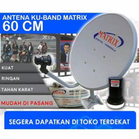 Ready Antena parabola matrix 60cm 1set Grosir