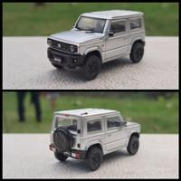 Miniatur Diecast Mobil Suzuki Jimny Sierra JB64 Silver By Aoshima