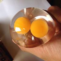 Mainan Squishy Model Slow-Rising Bahan PU Elastis Bentuk Telur untuk
