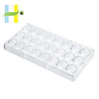 Cetakan Coklat Semi Bulat Bahan Polycarbonate Dengan 24 Lubang