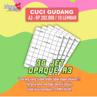 Transfer Paper 3G Jet Opaque ukuran A3