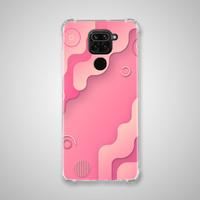 Xiaomi Redmi NOTE 9 Casing Soft Case Anticrack Motif Pink BA20 0146