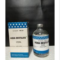 Aquades aqua destilata Asli Manjur