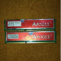 FG- Sepasang RAMKit RAM Longdimm DDR3 1333 Merk Apogee 4Gb 2x2Gb