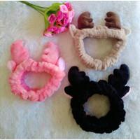 Handuk Tanduk Deer Impor Korea Telinga Rusa Headband Bando Bulu Bandan