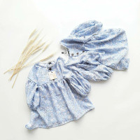 Baju Tunik Blus Rayon SHORT - DRESS OLIVE Tunik Bayi Anak Atasan Panja