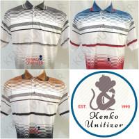 YE194 YT33 Wangki bapak SAKU Kaos salur Kerah Polo pakaian Pria XL str
