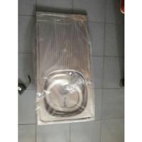 Bak cuci piring lubang 1 dan meja. ROYAL. stainles aluminium Diskon